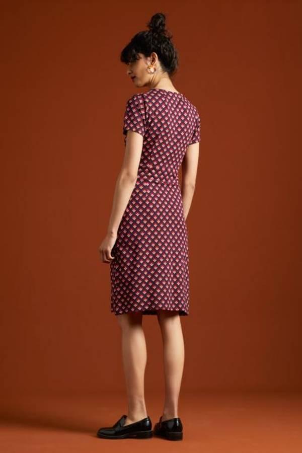 King Louie Smal kjole Mona Pose, Grape Red