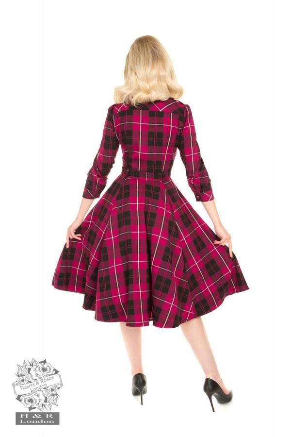 H&R Utsvingt kjole Evie, Lilla